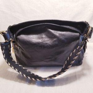 Maurizio Taiuti soft Italian black leather bag